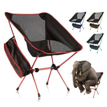 Silla plegable portátil para acampar al aire libre, asiento de senderismo, tela...