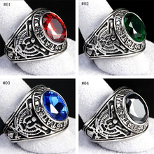 2020 Men Luxury Stainless Steel 316 Siam Red United States US Army Military Punk Finger Ring Fashion Jewelry Gift united states military armed forces full size ribbon us merchant marine expeditionary