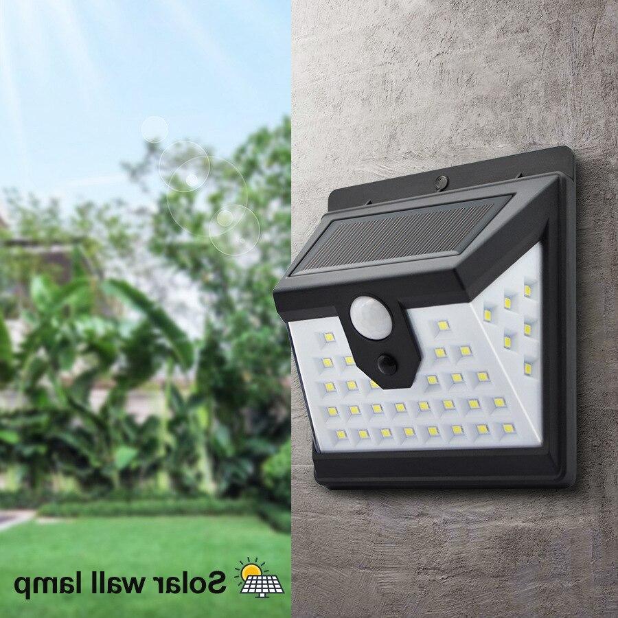 40 LED Solar Light PIR Motion Sensor Solar Wall Light Outdoor Waterproof Garden Decoration Solar Household Lighting Street Lamp