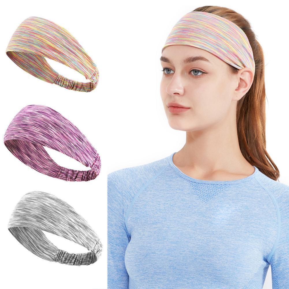 Повязка на голову поглощающая пот дышащая эластичная повязка на голову для фитнеса повязка на голову для бега и спорта высокоэластичный тю...