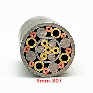 Image 4 - 8ミリメートルモザイクピンリベットナイフハンドルネジ飾る21種類のデザイン絶妙なスタイルの長さ9センチメートル