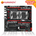 HUANANZHI X99-T8D Motherboard Intel Dual CPU X99 LGA 2011-3 E5 V3 DDR3 RECC 256GB M.2 NVME NGFF USB 3,0 E-ATX Server Mainboard