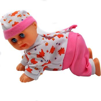 Funny Electric Intelligent Doll Laughing Crying Singing Crawling Baby Doll Toy Girl Toy Gift