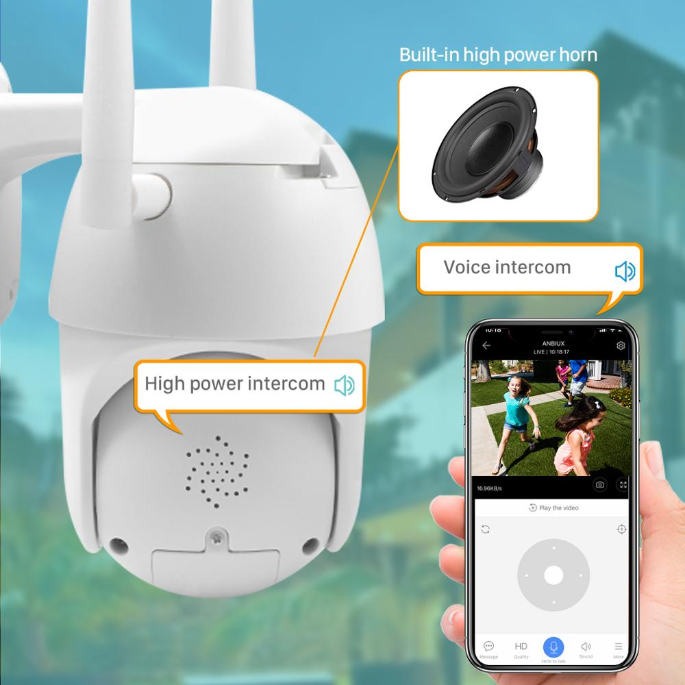 Image 5 - BESDER Outdoor Motion Alert 2MP IP Camera WiFi 4X Digital Zoom Dual Antenna Speed Dome Camera With Siren Light Cloud Storage-in Surveillance Cameras from Security & Protection