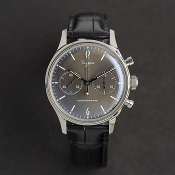 Pilot Watch men mechanical chronograph luminous new 2020 sugess black ST1901 movement crystal glass cover Antique wristwatches 1