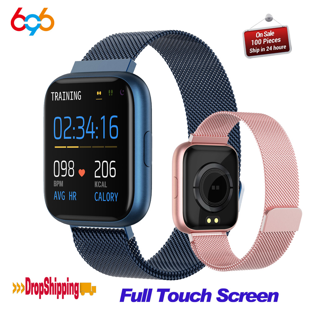 P6 Smart Watch Men Women <font><b>smartwatch</b></font> Waterproof Fitness Tracker Smart Bracelet support change strap PK <font><b>P70</b></font> P80 B57 Smart Band image