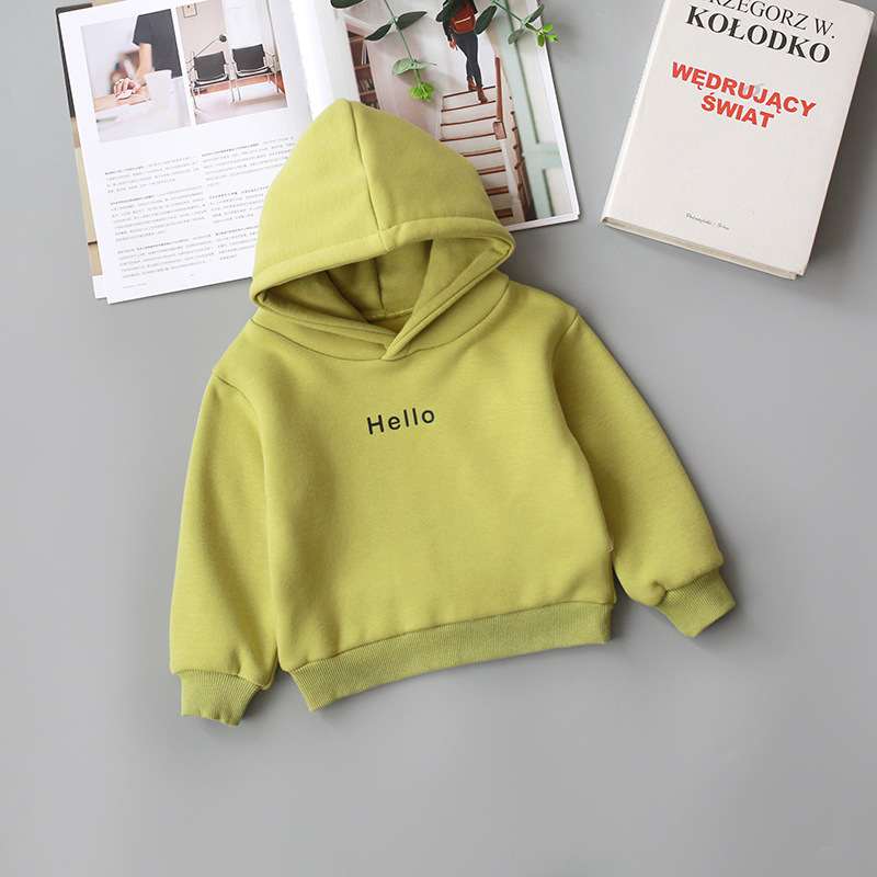 2020 Autumn Winter Coat For Girls Toddler Baby Kids Boys Clothes Hooded Cartoon 3D Ear Hoodie Letter Sweatshirt Tops Clothes 2