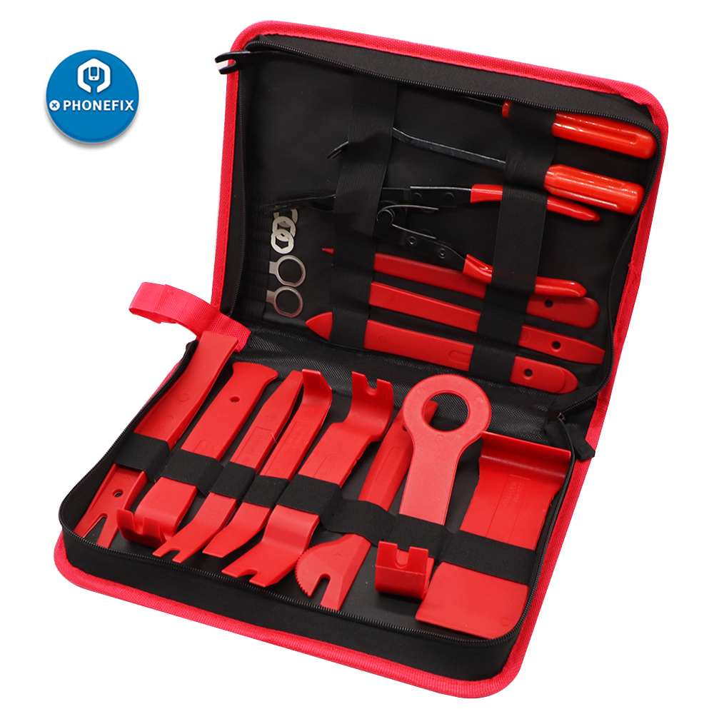 4/7/12/19 Pcs Auto Trim Removal Tool Kit Car Panel Door Audio Removal Pry Tool Car Dash Radio Door Trim Panel Clip Hand Tools