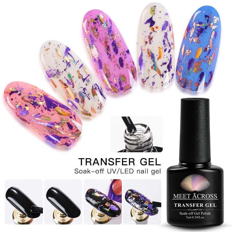 Voldoen Over Nagel Folie Zelfklevend Lijm Sterrenhemel Sticker Transfer Uv Gel Polish Diy Manicure Nail Art Gel Vernis Lak