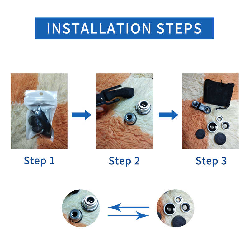 3-in-1 เลนส์มุมกว้าง Macro Fisheye เลนส์กล้องชุดโทรศัพท์มือถือ Fish Eye เลนส์คลิป 0.67x สำหรับ iPhone Samsung โทรศัพท์มือถือ
