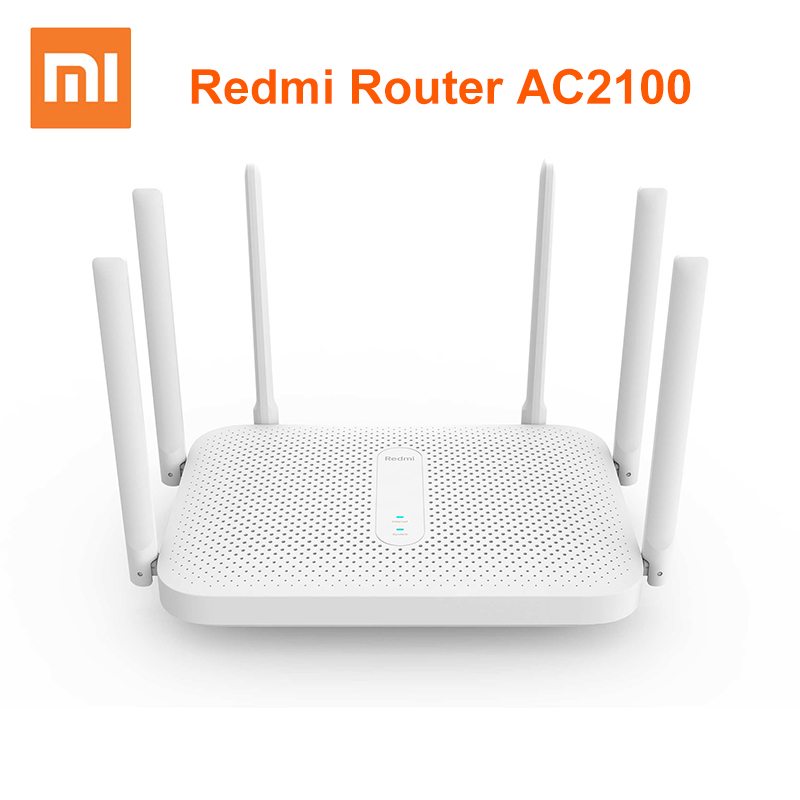 Xiaomi Redmi AC2100 Router 2.4G 5.0GHz Gigabit Dual-Band 2033Mbps Wireless Router Wifi Repeater With 6 High Gain Antennas Wider