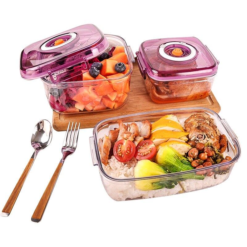 Вакуумный контейнер большой емкости для хранения пищевых продуктов квадратные пластиковые контейнеры вакуумный упаковщик горшки для запе...