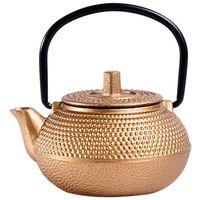 Mini chaleira de chá de ferro fundido estilo japonês tetsubin pequeno bule de chá 50 ml  fácil de transportar|Bules| |  -