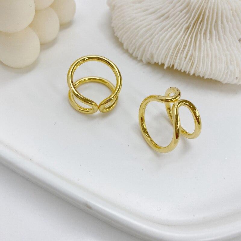 Купить mengjiqiao панк мода двойной пушапом нерегулярные золото цвет