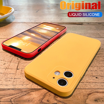 Original Silicone Phone Case For iPhone 12 11 Pro Max 7 8 6 Plus 12 Mini Soft Shockproof Cover On For XR X XS Max SE 2020 Coque bumper case for iphone xs max xr x 10 8 7 6 se plus coque shockproof aluminum frame cover for iphonex protective border capinhas