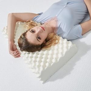 Image 2 - Giantex睡眠天然ラテックス枕マッサージ枕整形外科枕kussens oreiller almohada頚椎poduszkapメモリ枕