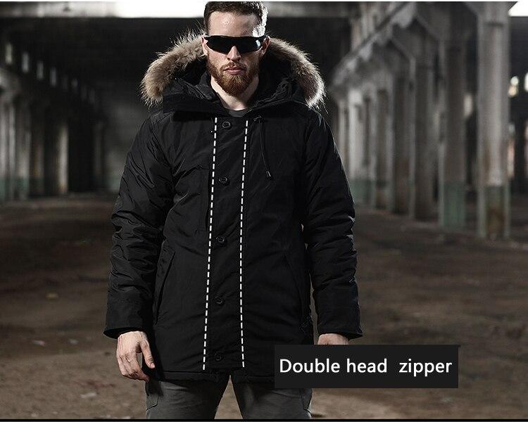 de pele militar casacos quentes longo canadá