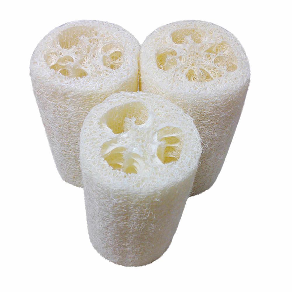 Naturalne Loofah do kąpieli do ciała pod prysznic płuczka z myjką Pad piłka do kąpieli ciała Spa do czyszczenia gąbka do mycia zdrowy masaż akcesoria łazienkowe