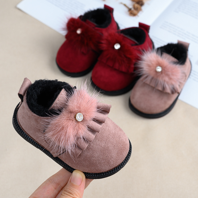 2020 New Baby Girls Shoes Infant Toddler First Walkers Soft Bottom Infant Girls  Princess Booties