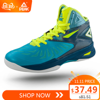 PEAK Men's Soaring II Basketball Shoes FIBA High Ankle Protect Safety Basketball Sneaker Professional Drop in Cushion Footwear