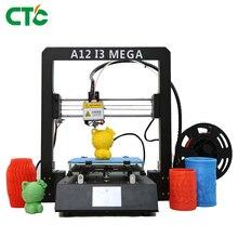 Impresora 3D Drucker DIY Kit  A12 I3 Mega Full Metal Frame Filament Sensor 3.5 Inch TFT Screen 3D Printer