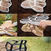 Floor-Mold Concrete-Path-Maker Cement Stone-Walk-Paving Plastic Reusable DIY Smooth Environmentally-Friendly