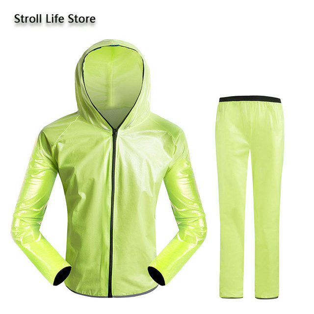 Outdoor Waterproof Suit Transparent Raincoat Men and Women Motorcycle Rain Coat Hiking Adult Thin Breathable Rain Pants Gift 5
