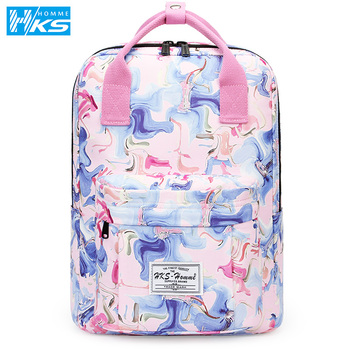Fashion 2020 Backpack Women Preppy School Bags For Teenagers Backpack Female Canvas Travel Bags Girls Laptop Backpack Mochilas joyir women backpack genuine leather fashion travel backpack mochilas school leather shopping travel bags schoolbags for girls