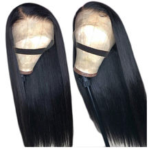 Straight Lace Front Human Hair Wigs 30 Inch 4x4 Closure Wig Remy Brazilian Straight Bob Wig full Transparent HD Lace Frontal Wig(China)