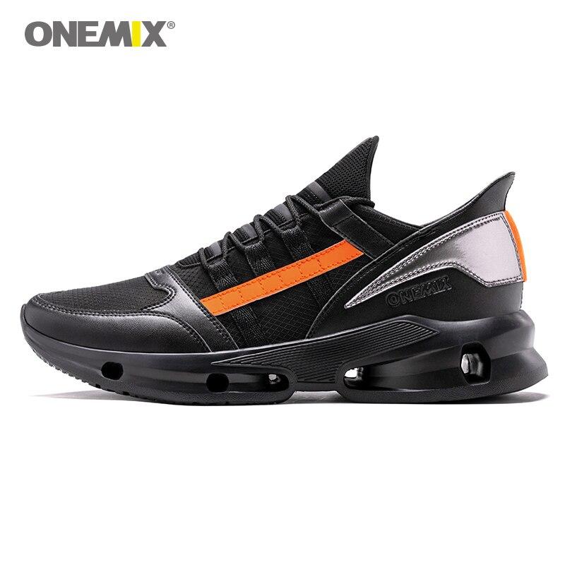 ONEMIX hommes Trail Running chaussures 2019 mode technologie tendance baskets plein air garçon athlétique formateurs hommes noir chaussures de marche