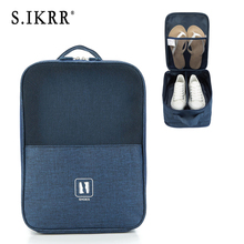 S.IKRR 3 Layers Nylon Travel Bag Portable Carry On Luggage Shoe Storage Bags Waterproof Tote Bag Packing Cubes Luggage Organizer