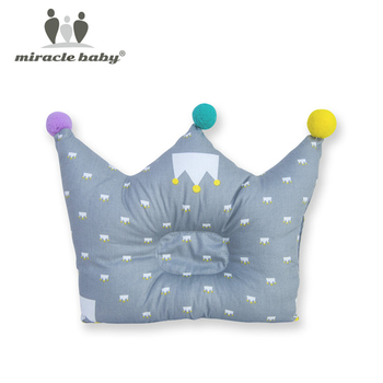 Cotton Baby Pillow Crown Infants Shaping Cartoon Toddler Newborn Positioner Anti Roll Cushion Flat Bebes Head Protection