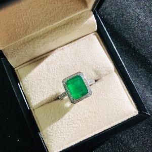 Image 5 - וונג גשם בציר 925 סטרלינג כסף אמרלד חן יהלומי חתונת אירוסין טבעת תכשיטים סיטונאי Drop חינם