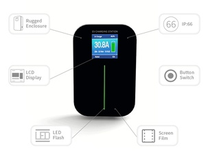 Image 2 - 32A 1 שלב אפליקציה EVSE Wallbox גרסה קיר הר Wifi EV מטען חשמלי רכב תחנת טעינה עם סוג 1 כבל SAE J1772