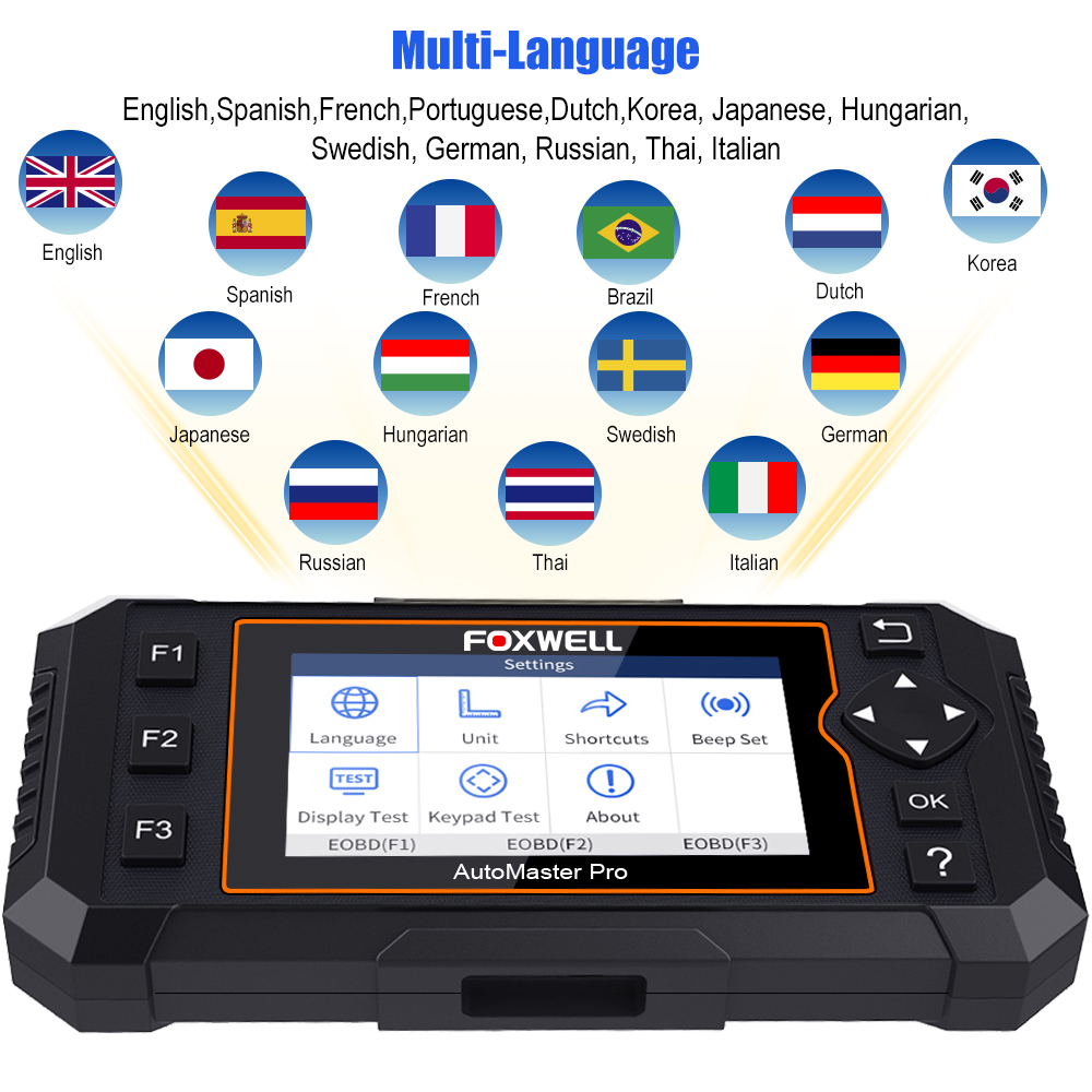 Image 4 - Foxwell NT614 Elite OBD2 Automotive Scanner Engine ABS Airbag AT System EPB Oil Reset Code Read Scanner ODB2 Diagnostic Tool on