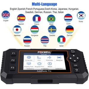 Image 4 - Foxwell NT614 Elite OBD2 Automotive Scanner Motore ABS Airbag AL Sistema EPB Reset Olio Codice Leggi Scanner ODB2 Strumento di Diagnostica