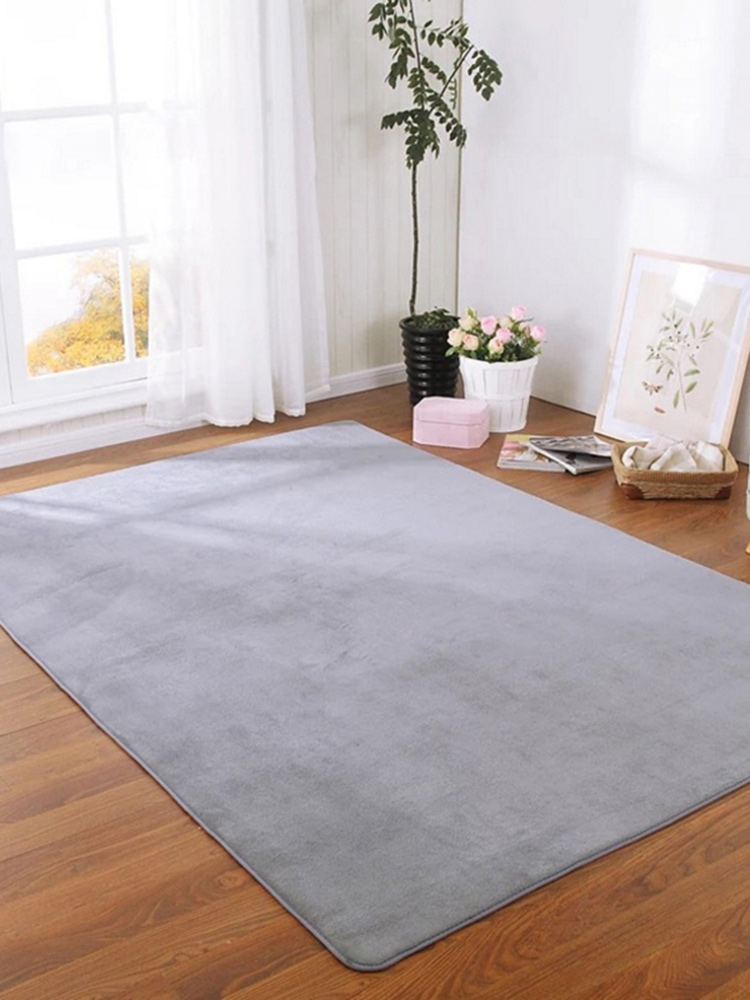 Carpet Bedroom Crawling-Mat Bedside-Rug Area Home-Decoration Modern Tatami Coral Thick