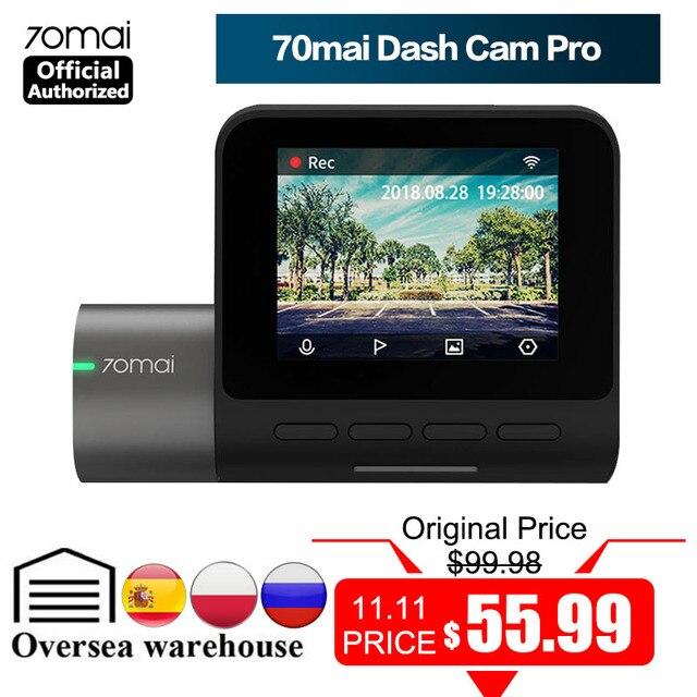 70mai Dash Cam Pro 1944P Speed Coordinates GPS ADAS 70mai Pro Car DVR WiFi 70 Mai Dash Camera Voice Control 24H Parking Monitor