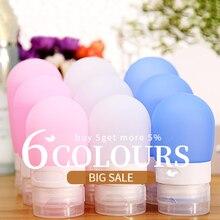 1 шт., 38 мл, 60 мл, 80 мл, пустая портативная силиконовая бутылочка для лосьона, шампуня, косметических контейнеров
