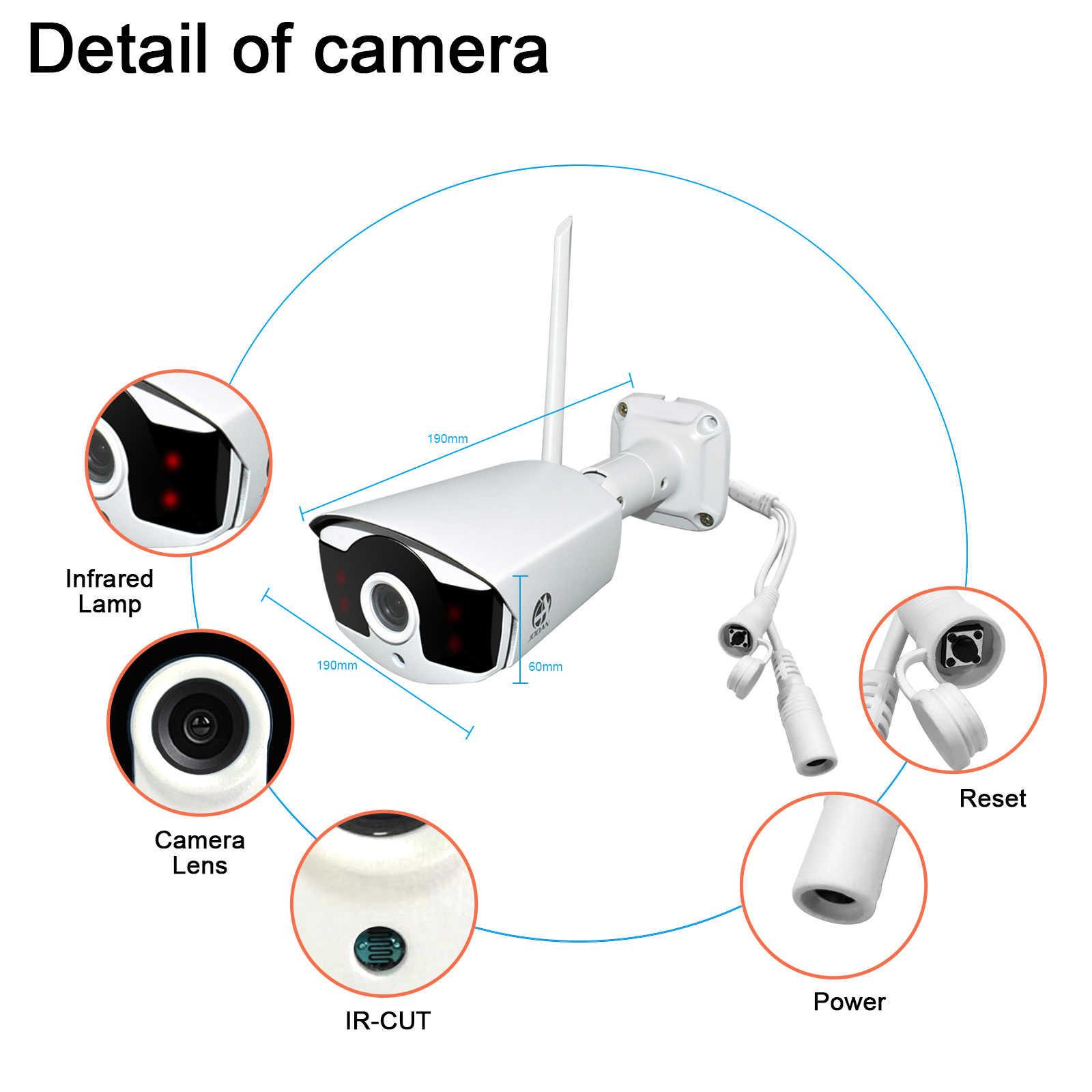 Kamera telewizji przemysłowej 1080P ze stałym obiektywem 8mm System bezpieczeństwa do wewnątrz/na zewnątrz kamera odporna na warunki atmosferyczne pasuje do Jooan 8CH NVR