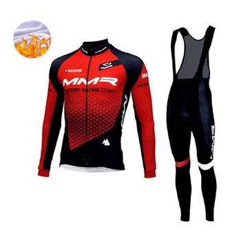 MMR-Conjunto de Ropa de Ciclismo para hombre, Conjunto de Jersey térmico y...