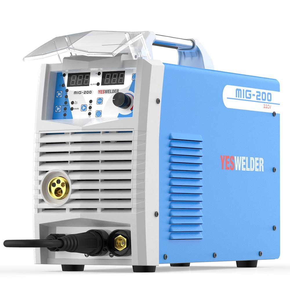 YESWELDER MIG200 200A Schweißen Maschine Keine Gas und Gas MIG Schweißer Mit Licht Gewicht Eisen Schweiß Maschine Einphasig 220V