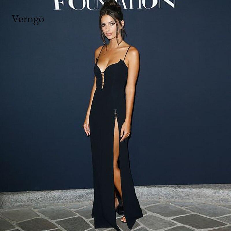 Verngo Black Evening Dress Simple Evening Dresses Long Boho Formal  Dress Party Prom Gowns Vestidos De Fiesta De Noche