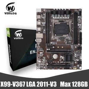 VEINEDA X99 DDR4 материнская плата LGA2011-V3 профессиональная 4-канальная Память ddr4 настольная материнская плата модуль PCI-E NVME M.2 SSD поддержка