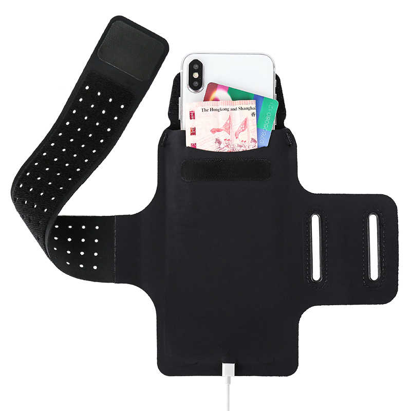 Haissky กีฬาโทรศัพท์กรณีมือถือผู้ถือ Brassard ARM Band สำหรับ iPhone 11 Pro X XS สูงสุด 8 7 Plus Armbands