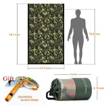 Waterproof Lightweight Thermal Emergency Sleeping Bag Bivy Sack - Survival Blanket Bags Emergency Tent Emergency Kit Supplies 10
