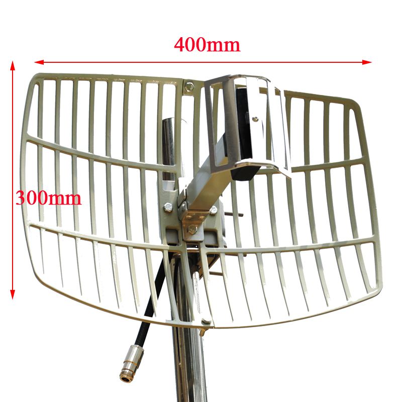 Ultra Long Range WiFi Antenna Extender Directional Parabolic Grid Outdoor Wifi 2.4G High Gain 15dBi Antenna