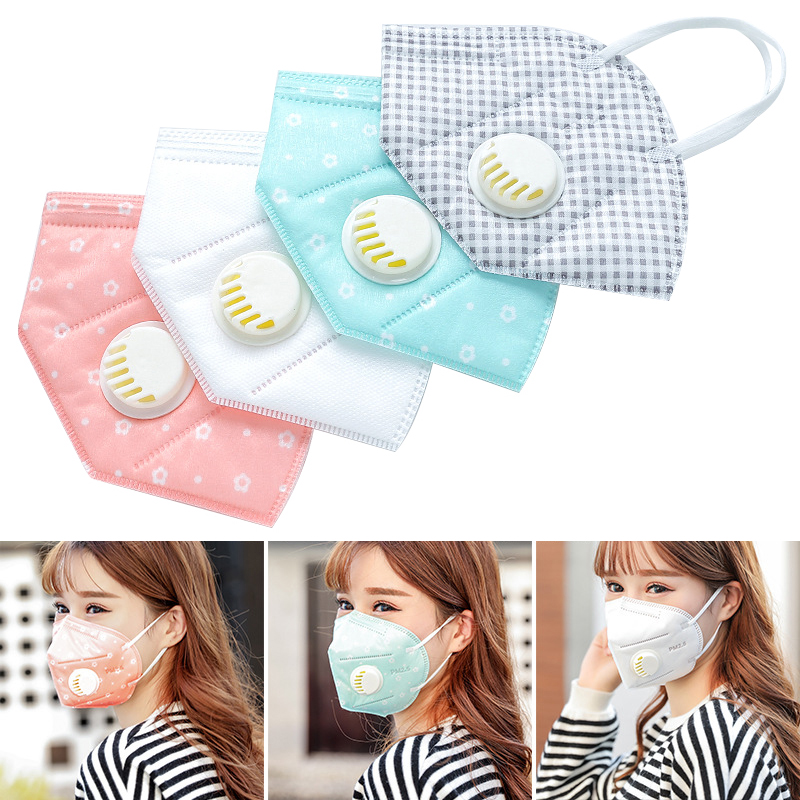 50pcs Dustproof Air Filter Mask Breathable Anti-Fog PM2.5 Keep Warm Resist Cold  Warm Dust Mask Respirator Dust Mask