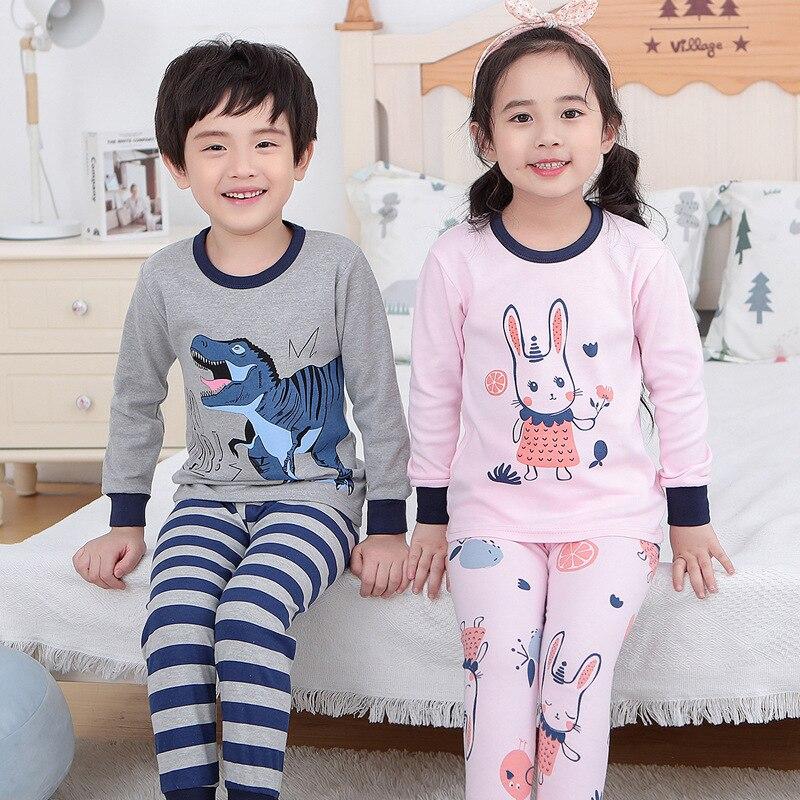 Kids Clothes Big Boys Girls Pajamas Unicorn Pyjamas Kids Sleepwear Cotton Toddler Nightwear Cartoon pijamas enfant Baby pajamas 3
