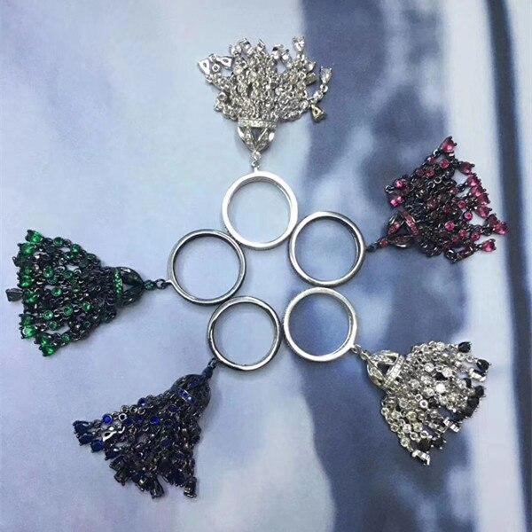 Designer mode 925 bijoux en argent Sterling 3A zircon cubique anneau de fête